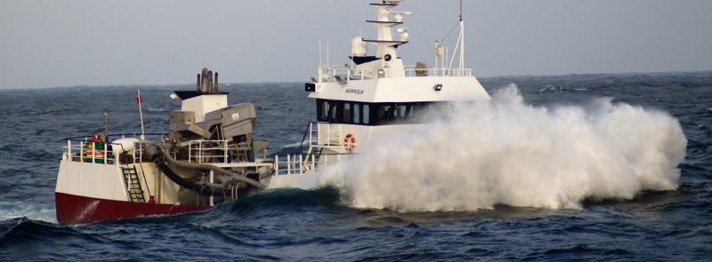 MV Norholm in high seas during storm